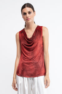 Round neck draped micro modal top  N/fire   Pre order now! Receive your order by May 15th, 2021 the latest.