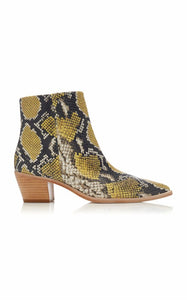 Ulla Johnson crzu snake-effect leather booties