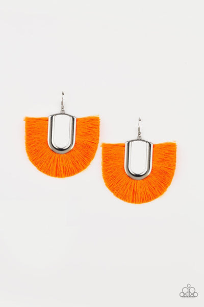 Tassel Tropicana Orange Earrings