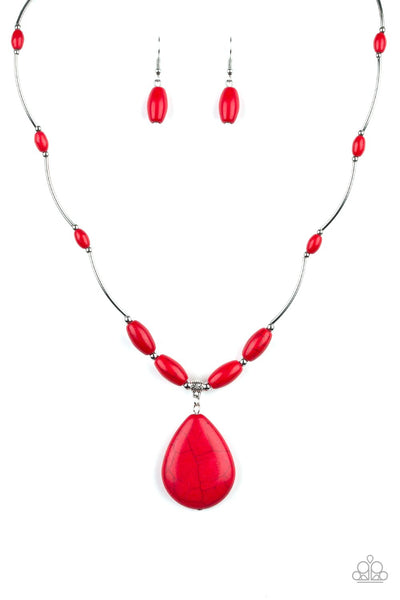 Explore the Elements - red necklace