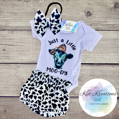 Just A Little Moo-dy Set - Kid Kreations LLC