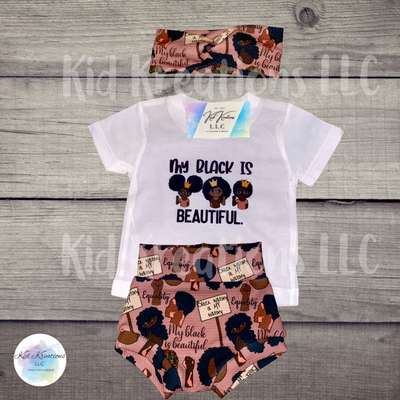 My Black Is Beautiful Summer Set - Kid Kreations LLC