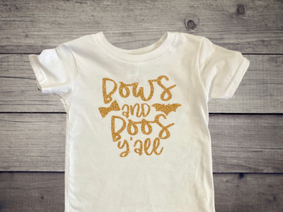 Bows & Boos Yall T-Shirt - Kid Kreations LLC