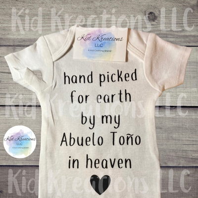 Hand Picked Onesie Or T-Shirt - Kid Kreations LLC