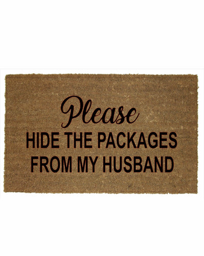 HIDE THE PACKAGES MAT