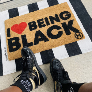 I LOVE BEING BLACK MAT