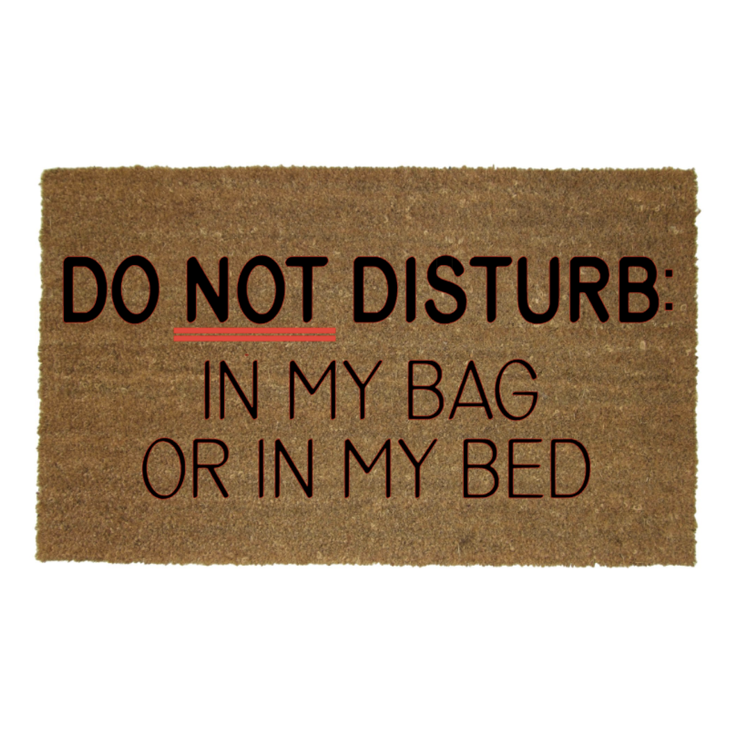 DO NOT DISTURB MAT