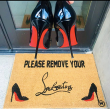 Load image into Gallery viewer, PLEASE REMOVE YOUR LOUBS MAT