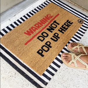 WARNING DO NOT POP UP MAT