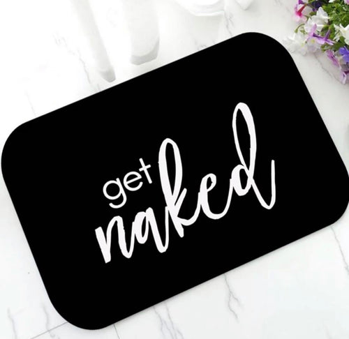 GET NAKED BATHROOM MAT