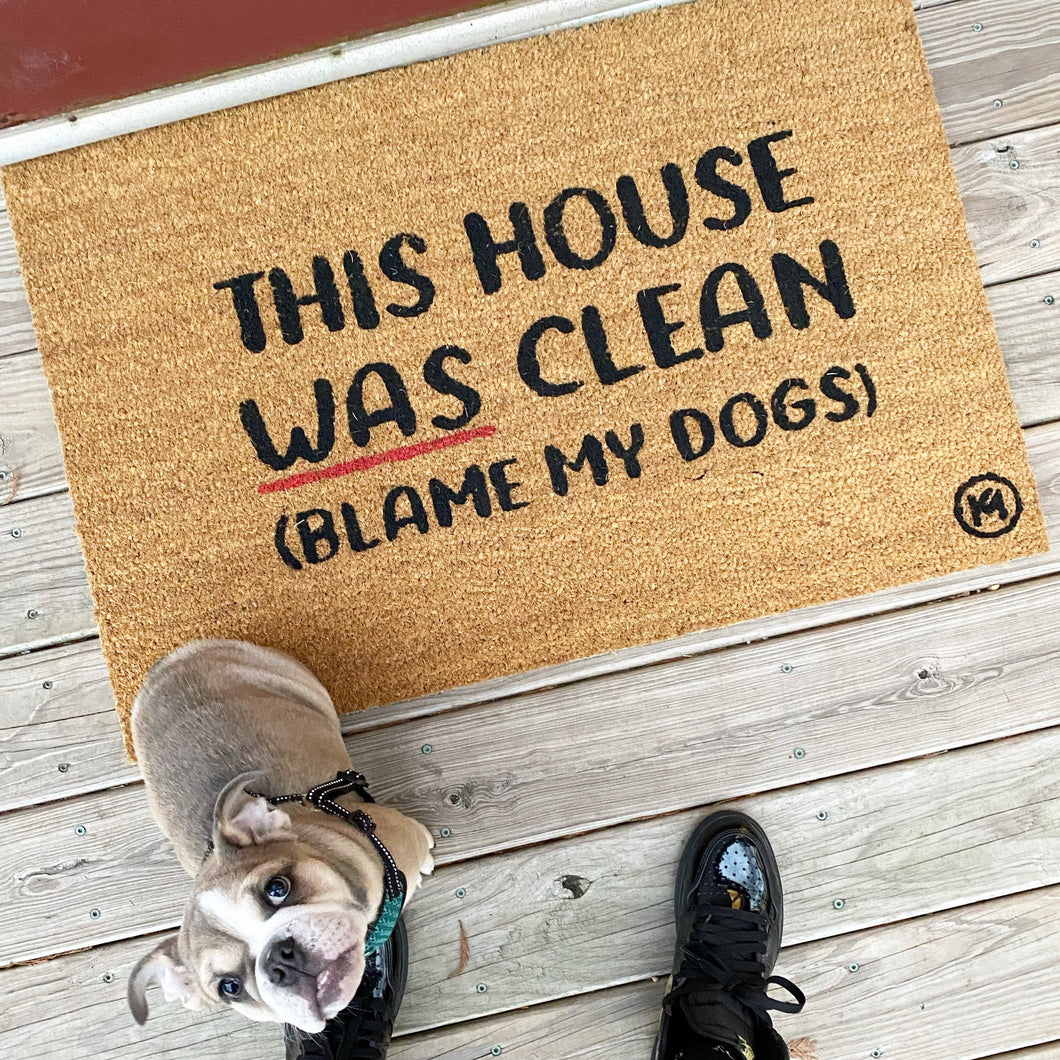 BLAME MY DOGS MAT