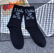 Load image into Gallery viewer, I WOKE UP LIKE THIS SOCKS