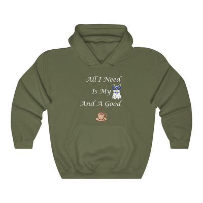 Unisex All I need Is My Dog W Hooded Coffee Sweatshirt - ThePopCoffee