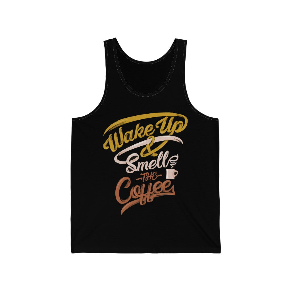 Wake Up & Smell The Coffee Jersey Tank Top - ThePopCoffee