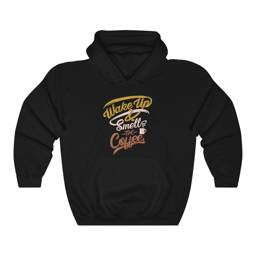 Wake Up & Smell The Coffee Hooded W Coffee Sweatshirt - ThePopCoffee