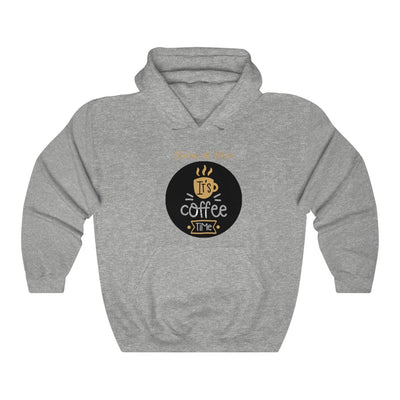 Unisex Its Coffee Time W Hooded Coffee Sweatshirt - ThePopCoffee