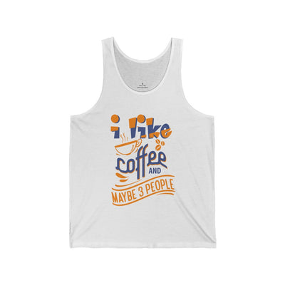 Men's I Like Coffee And Maybe 3 People Jersey Tank Top - ThePopCoffee