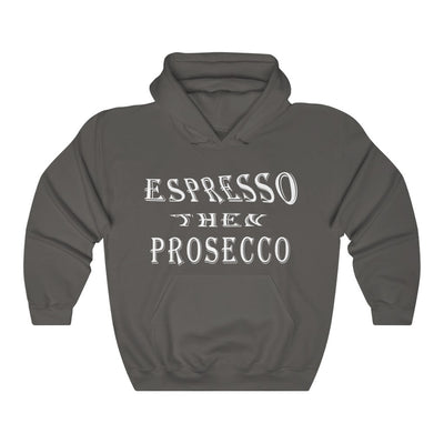 Unisex Espresso Then Prosecco W Hooded Coffee Sweatshirt - ThePopCoffee