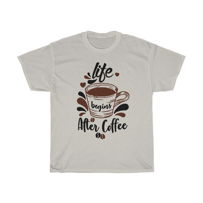 Life Begins After Coffee T-shirt Women - ThePopCoffee