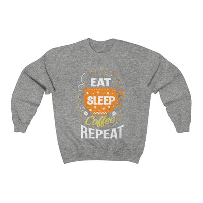 Eat Sleep Coffee Repeat Sweatshirt For Men - ThePopCoffee