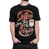 Coffee And Then The World T-Shirt for Men - ThePopCoffee