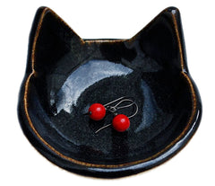 Black Cat Ring Dish for College Back to School Decor