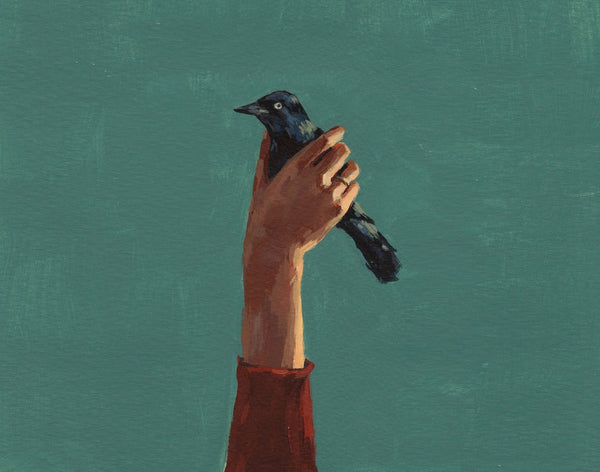 Bird in Hand Painting by Clare Elsaesser