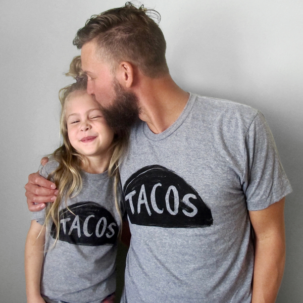 Matching Father Daughter Taco Shirts - funny dad gift from kids!