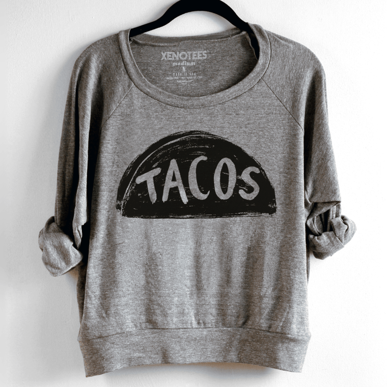 Womens Taco Tuesday Sweatshirt - Xenotees
