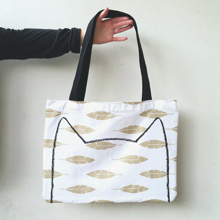 Cat Bird Market Tote Bag by Xenotees