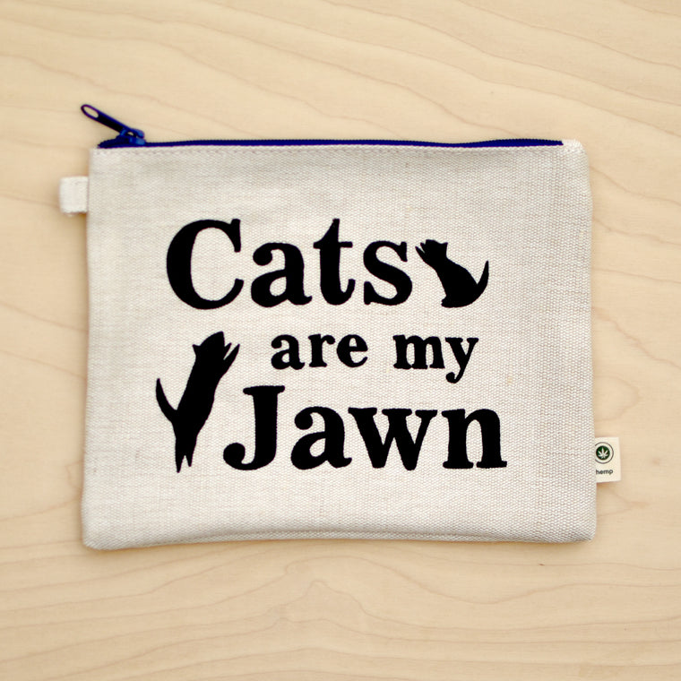Cats are my Jawn Pouch
