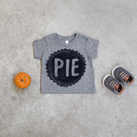 Unisex Pumpkin Pie Baby Shirt for Thanksgiving