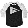 Team Pizza Baseball Jersey Shirt by Xenotees
