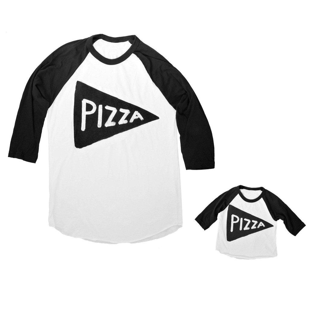 Father Son Daughter Matching Family Pizza Slice Baseball Jersey Shirt Set by Xenotees