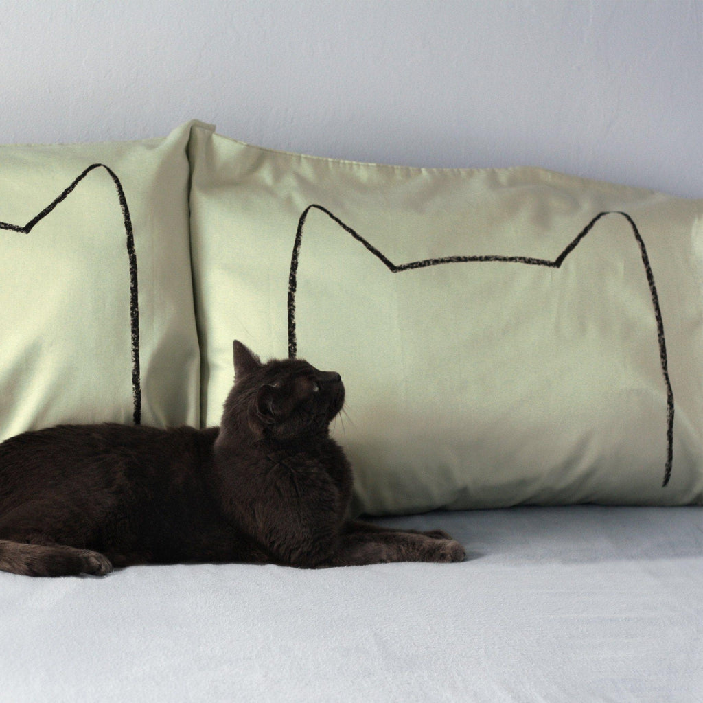 Cat Nap Pillowcases - Set of 2 by Xenotees