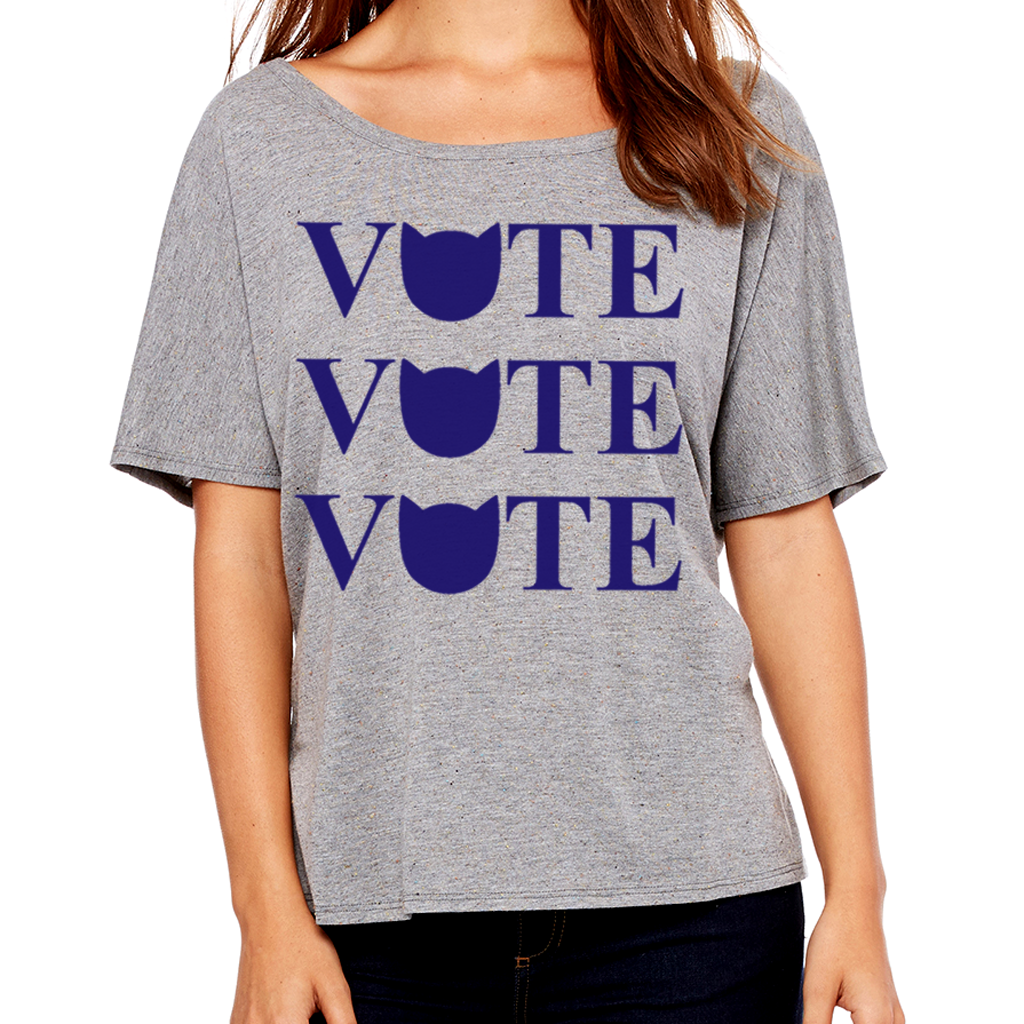 Cool Cats Vote Women's Flowy Tee