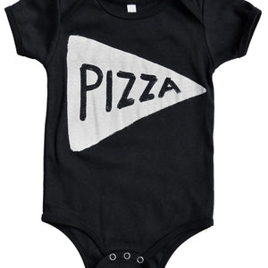 Pizza Baby Onesie in Black