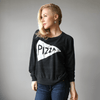 Pizza Womens Pullover by Xenotees