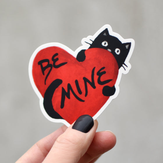 Cat Valentine's Day Heart Sticker by Xenotees