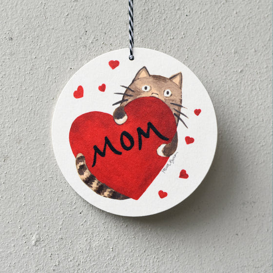 Mother's Day Cat Mom Card / Ornament by Xenotees
