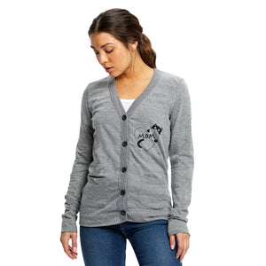 Cat Mom Tri-blend Cardigan in Gray