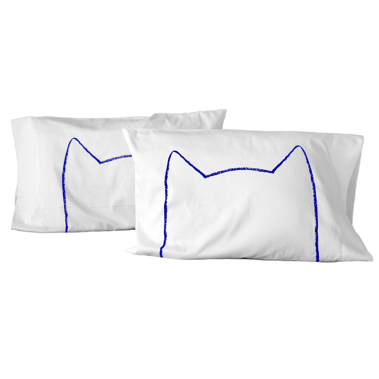 Cat Nap Pillowcases - Set of 2 - Limited Edition Blue Print by Xenotees