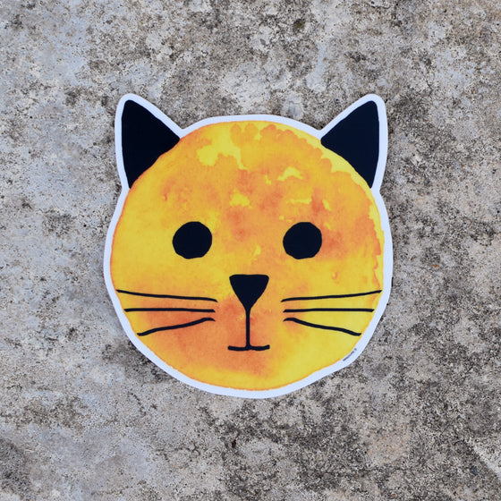 Golden Sun Cat Sticker by Xenotees