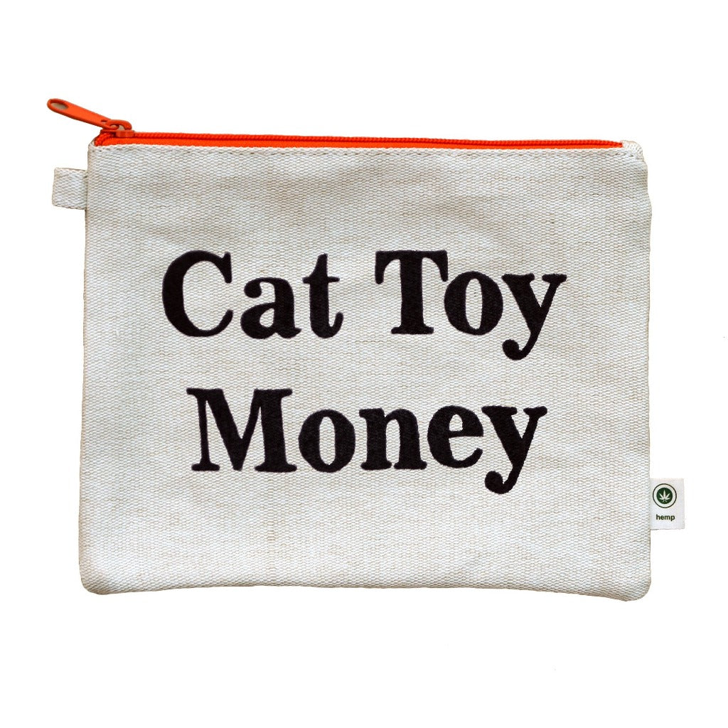 Cat Toy Money Pencil Pouch