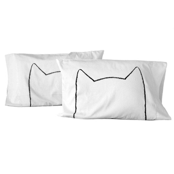 Cat Nap Pillowcases - Set of 2 Pillowcases - by Xenotees  - 1