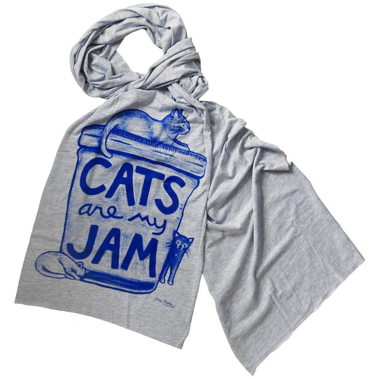 Cats are my Jam Scarf Scarf - by Xenotees  - 1