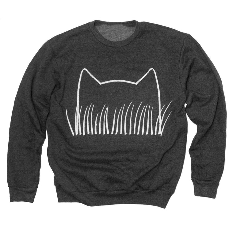 Unisex Cat Grass Sweatshirt - Xenotees