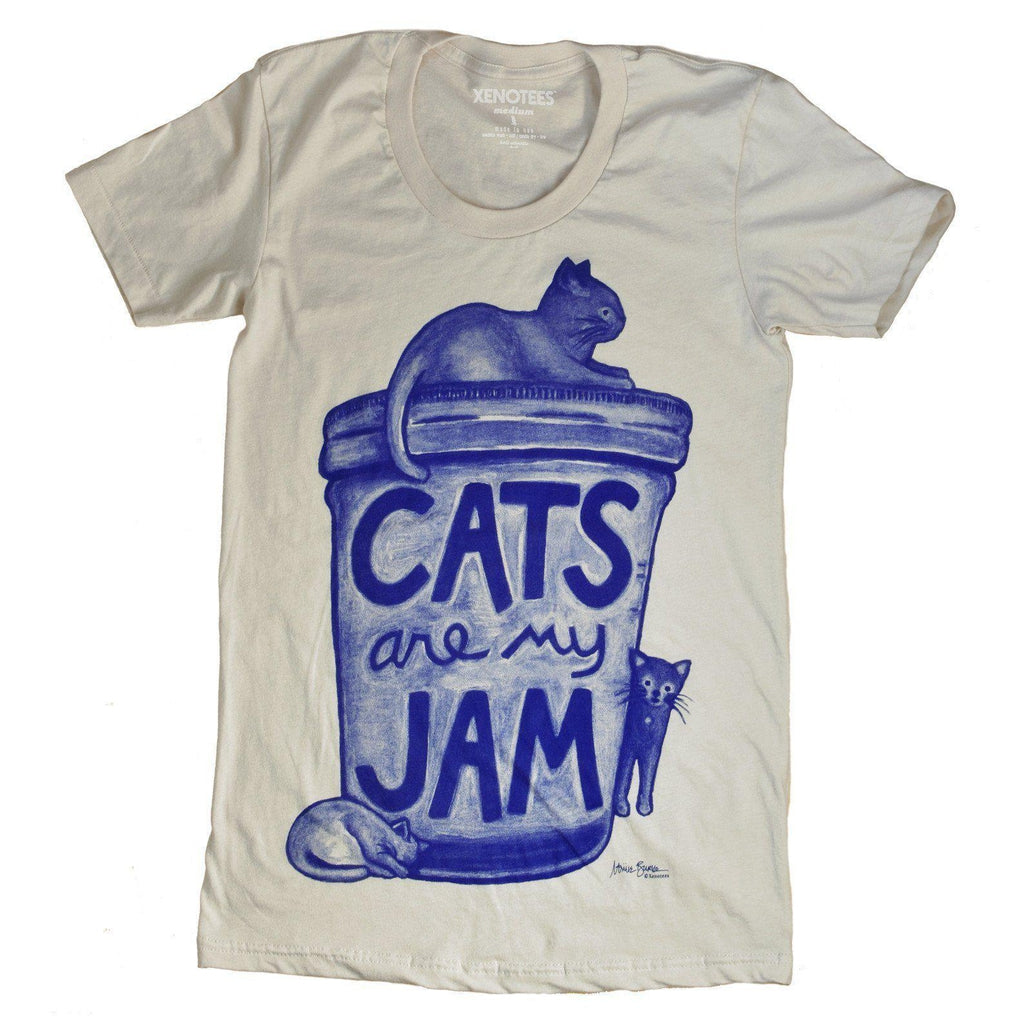 Cats are my Jam Womens T shirt - Xenotees