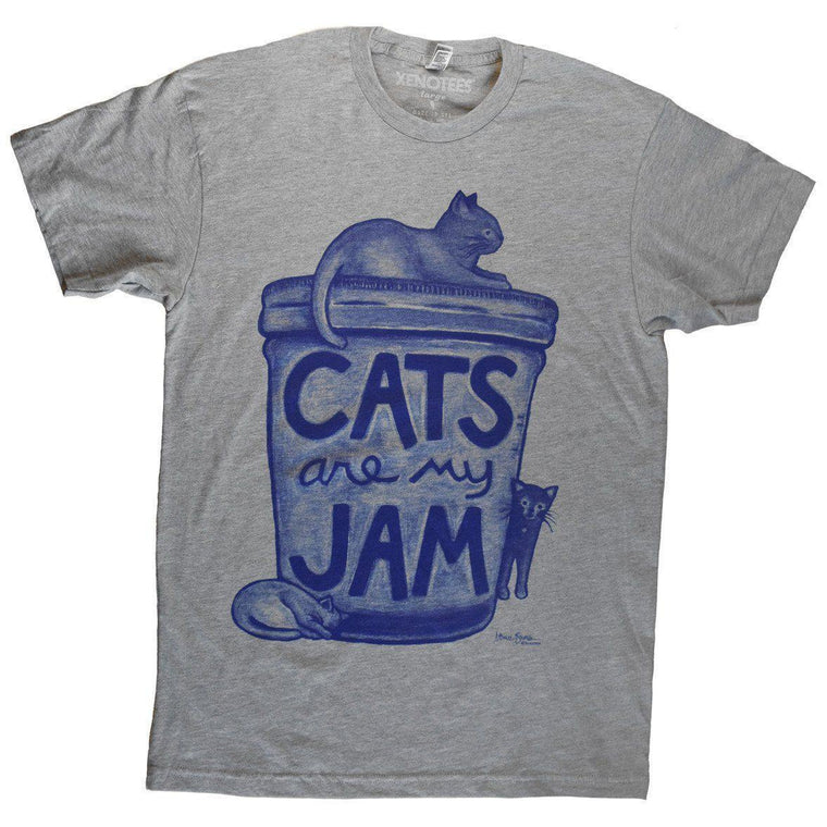 Cats are my Jam Unisex Tshirt by Xenotees