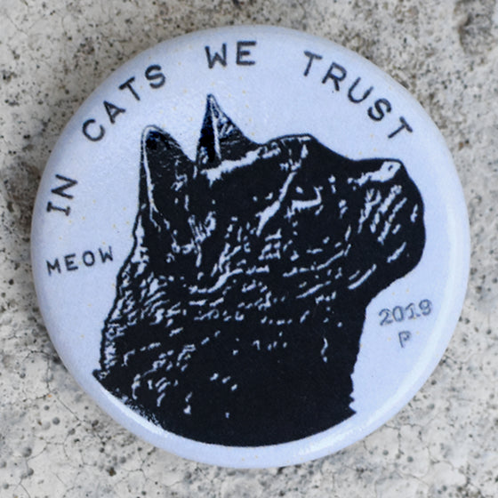 Cat Coin Pin-back Button
